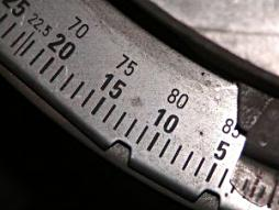 Scales of measurement on a tool