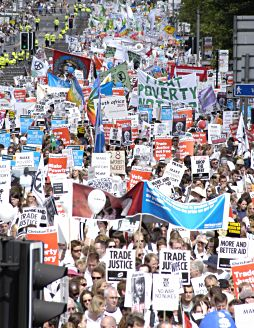 Make Poverty History - Rally in Edinburgh, Scotland, 2005